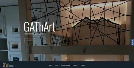 snímka WordPress stránky gathart.sk