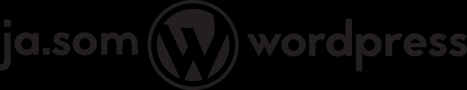 Hlavné logo ja.som.wordpress čierne