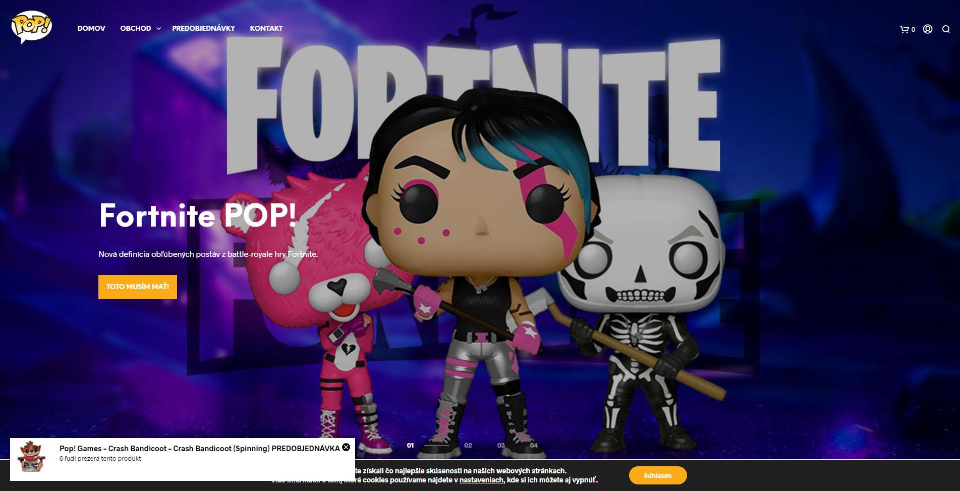 snímka internetovej stránky popfigurky.sk